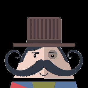 Mr. Mustachio 2 messages sticker-3