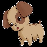 Cute Dogs Stick messages sticker-2