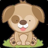 Cute Dogs Stick messages sticker-11