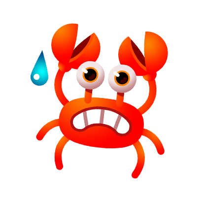 Coco Crab messages sticker-2