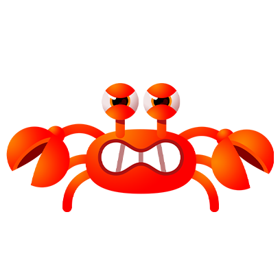 Coco Crab messages sticker-1