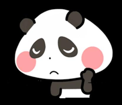 Baby Panda Emoji messages sticker-7