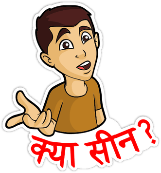 Desi Talkative messages sticker-0