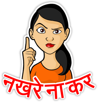 Desi Talkative messages sticker-5