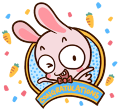 Pinky Bunny Cute messages sticker-6