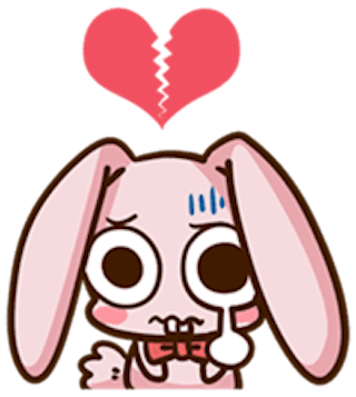 Pinky Bunny Cute messages sticker-4