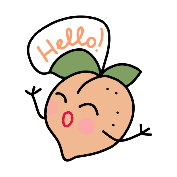 Peach Bellini messages sticker-2