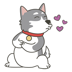 HuskyMoji - Siberian Husky Emoji messages sticker-10
