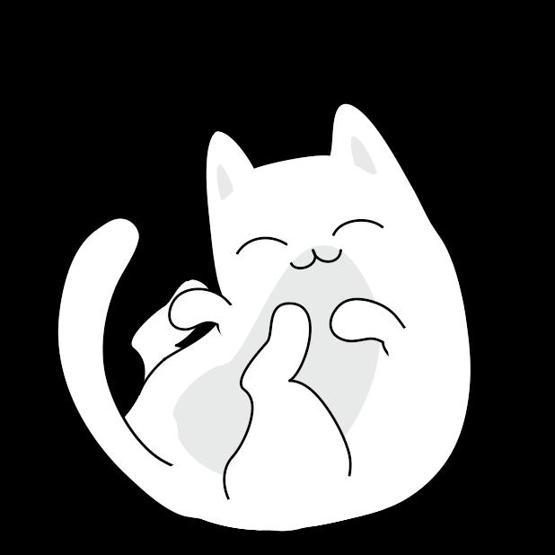 Yuki Neko - Animated Kitty Cat Fun Pet Stickers messages sticker-0