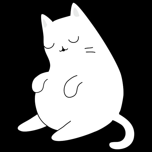 Yuki Neko - Animated Kitty Cat Fun Pet Stickers messages sticker-2
