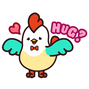 Cute Roosters Stickers messages sticker-7