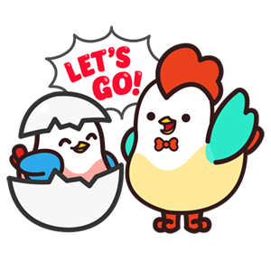 Cute Roosters Stickers messages sticker-3
