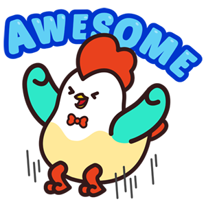 Cute Roosters Stickers messages sticker-5