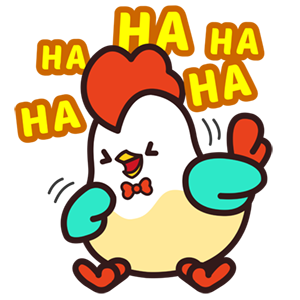 Cute Roosters Stickers messages sticker-0