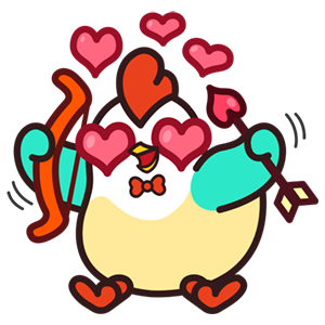 Cute Roosters Stickers messages sticker-1