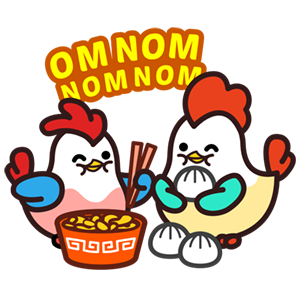Cute Roosters Stickers messages sticker-4