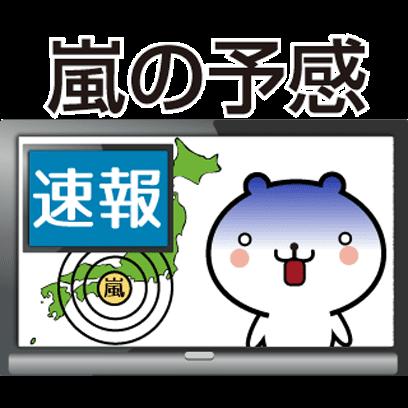 動く 小賢しいちびクマ(TV) messages sticker-3