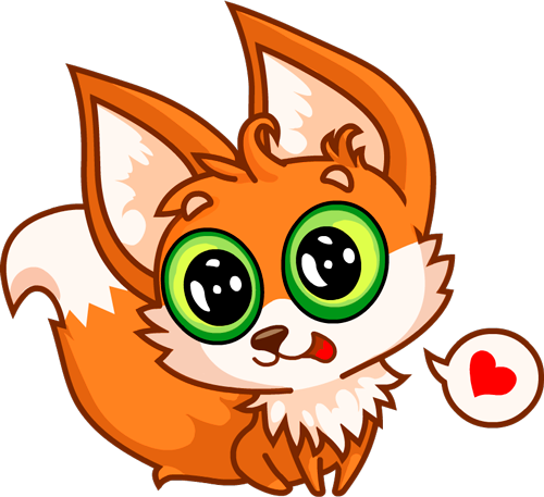 Fox - Beautiful cute stickers messages sticker-1