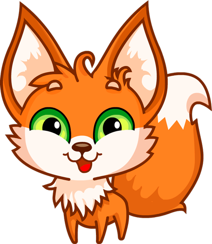 Fox - Beautiful cute stickers messages sticker-4