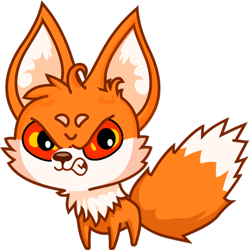 Fox - Beautiful cute stickers messages sticker-8