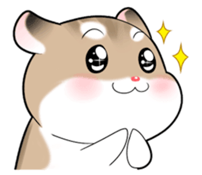 Funny Rinky Hamster messages sticker-7