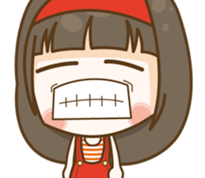 Cutie Girl Emotion messages sticker-11