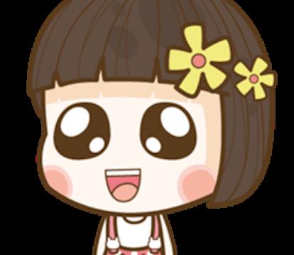 Hana Cute Girl Emoji messages sticker-0