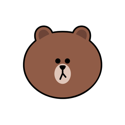 Sweet BROWN - LINE FRIENDS messages sticker-0