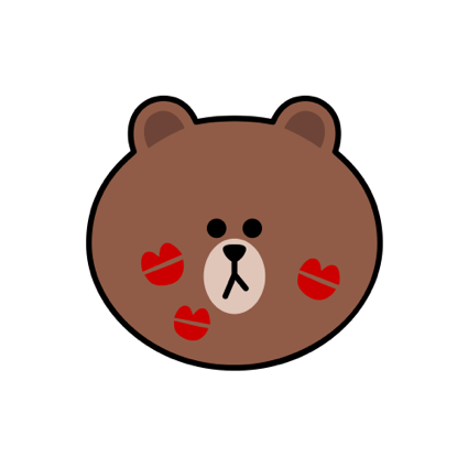 Sweet BROWN - LINE FRIENDS messages sticker-4
