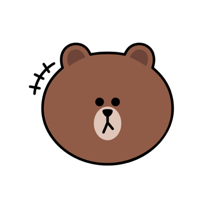Sweet BROWN - LINE FRIENDS messages sticker-8