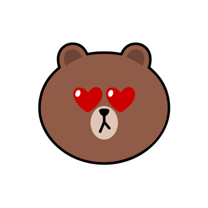Sweet BROWN - LINE FRIENDS messages sticker-2