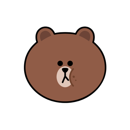 Sweet BROWN - LINE FRIENDS messages sticker-3