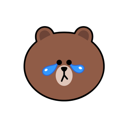 Sweet BROWN - LINE FRIENDS messages sticker-7