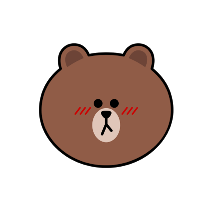 Sweet BROWN - LINE FRIENDS messages sticker-5