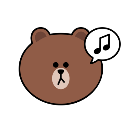 Sweet BROWN - LINE FRIENDS messages sticker-9
