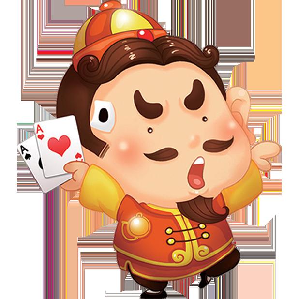 四人斗地主-两副牌单机斗地主 messages sticker-1