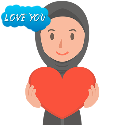 Muslimoji woman messages sticker-9