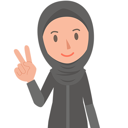 Muslimoji woman messages sticker-1