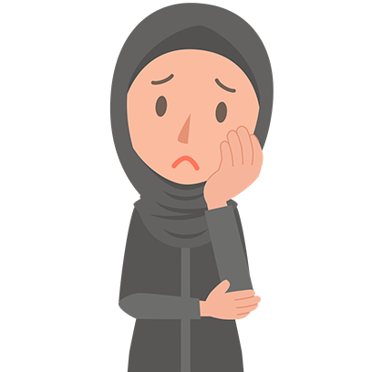 Muslimoji woman messages sticker-5