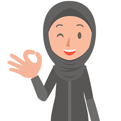 Muslimoji woman messages sticker-11
