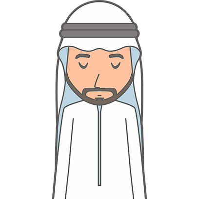 Muslimoji man messages sticker-1