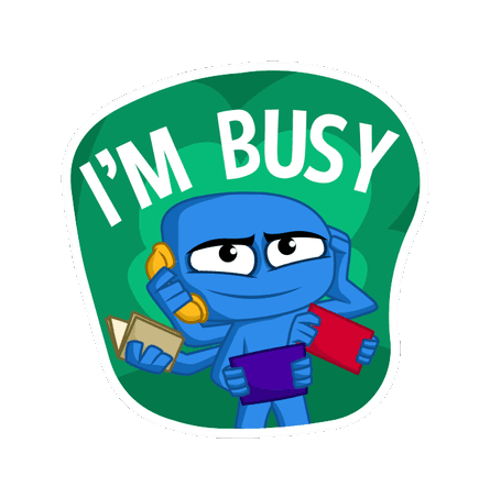 Excuses Sticker messages sticker-11