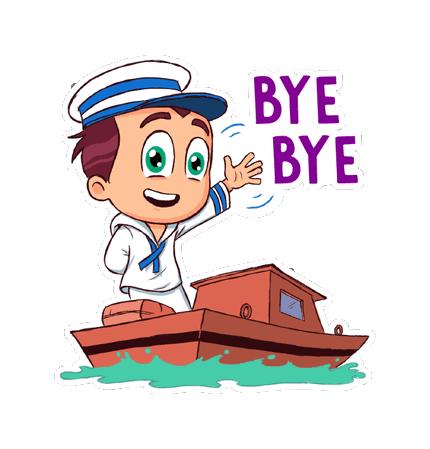 Hello Ok Bye Sticker messages sticker-8