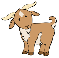 Goat Cute - Best Goat Stickers messages sticker-0