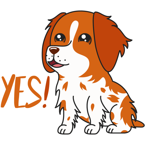Honey the Brittany Spaniel messages sticker-3