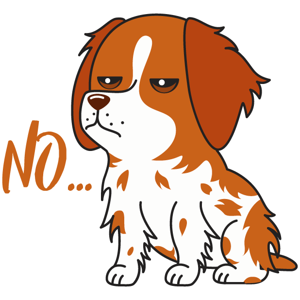 Honey the Brittany Spaniel messages sticker-2
