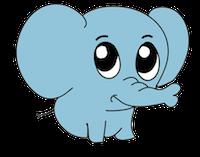 ElephantMoji - Best Elephant Emoji & Stickers messages sticker-1