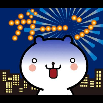 動く 小賢しいちびクマ(花火) messages sticker-8