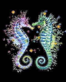 Sea Horse Emoji messages sticker-8