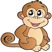 MonkeyCute - Cute Monkey Emoji And Stickers messages sticker-9